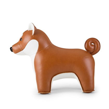 ZUNY SHIBA INU TAN+WHITE BOOKEND - #hapi Fish-HOME DECO