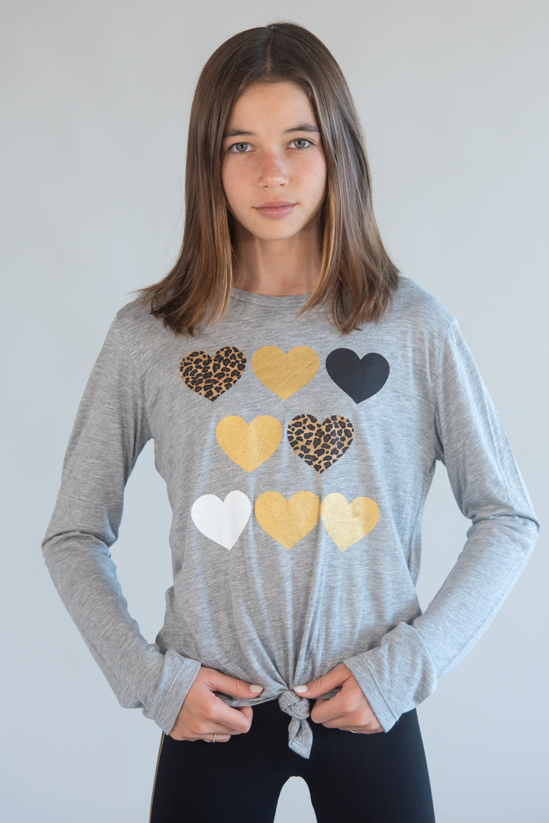 Leopard 8 Heart Long Sleeve