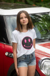 Pink Happy Face Tee