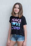 "Cropped ""Peace Love Camp"" Tee"