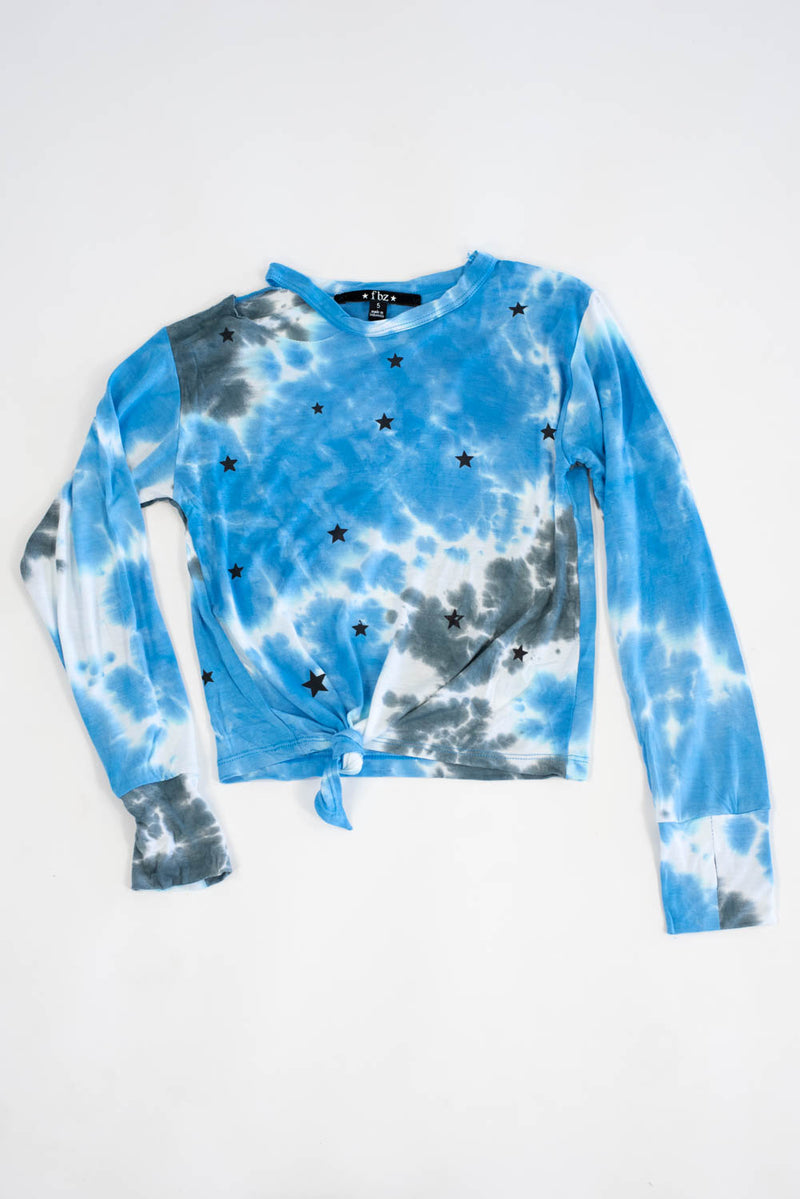 *Blue Tiedye Stars Long Sleeve*