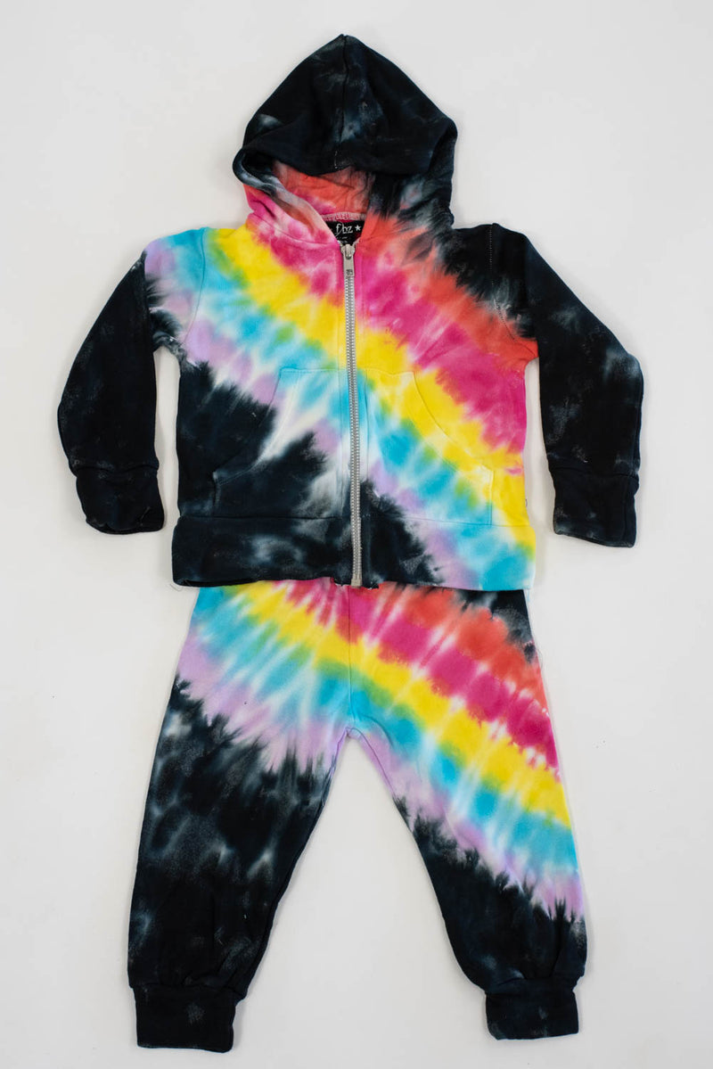 *Rainbow Zip-Up Hoodie Set*