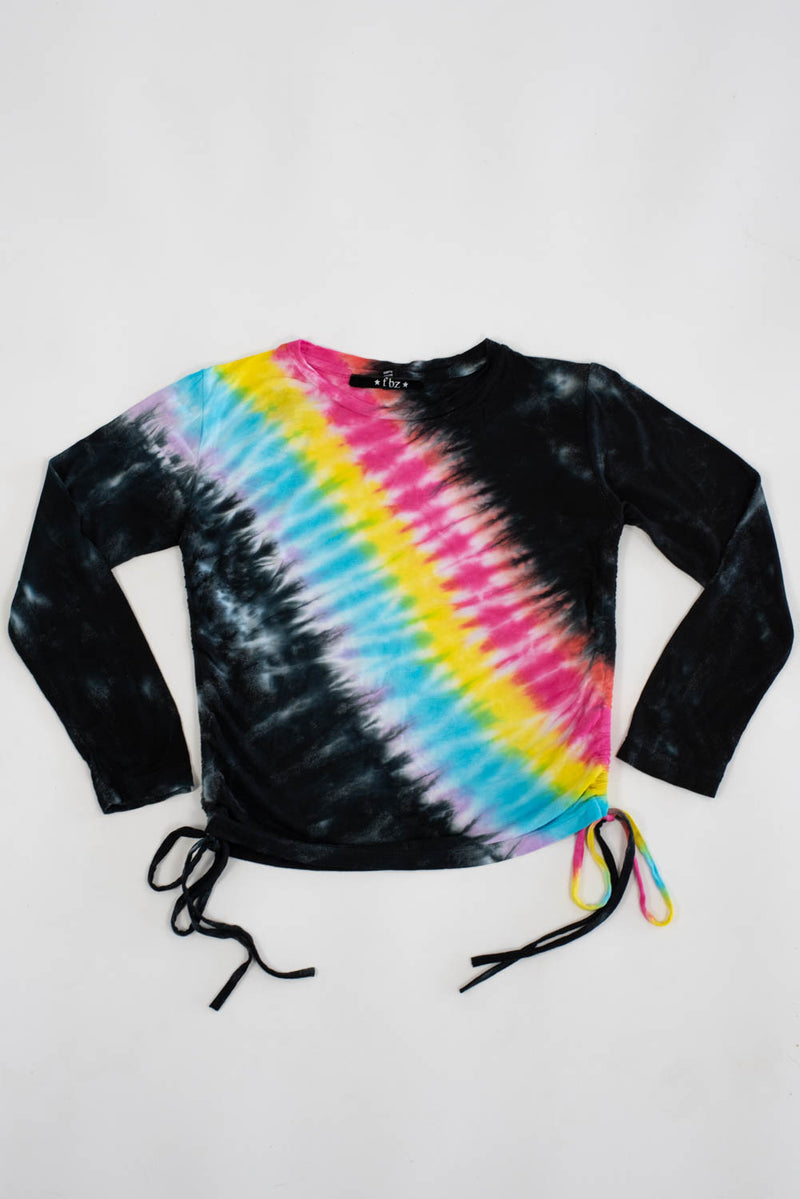 *Rainbow Side-Ruched Long Sleeve *