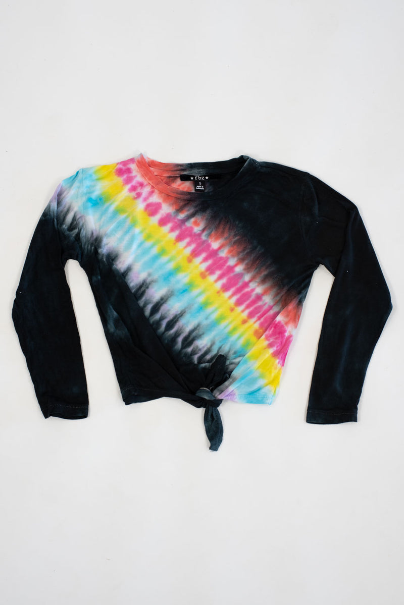*Rainbow Knotted Front  Long Sleeve *