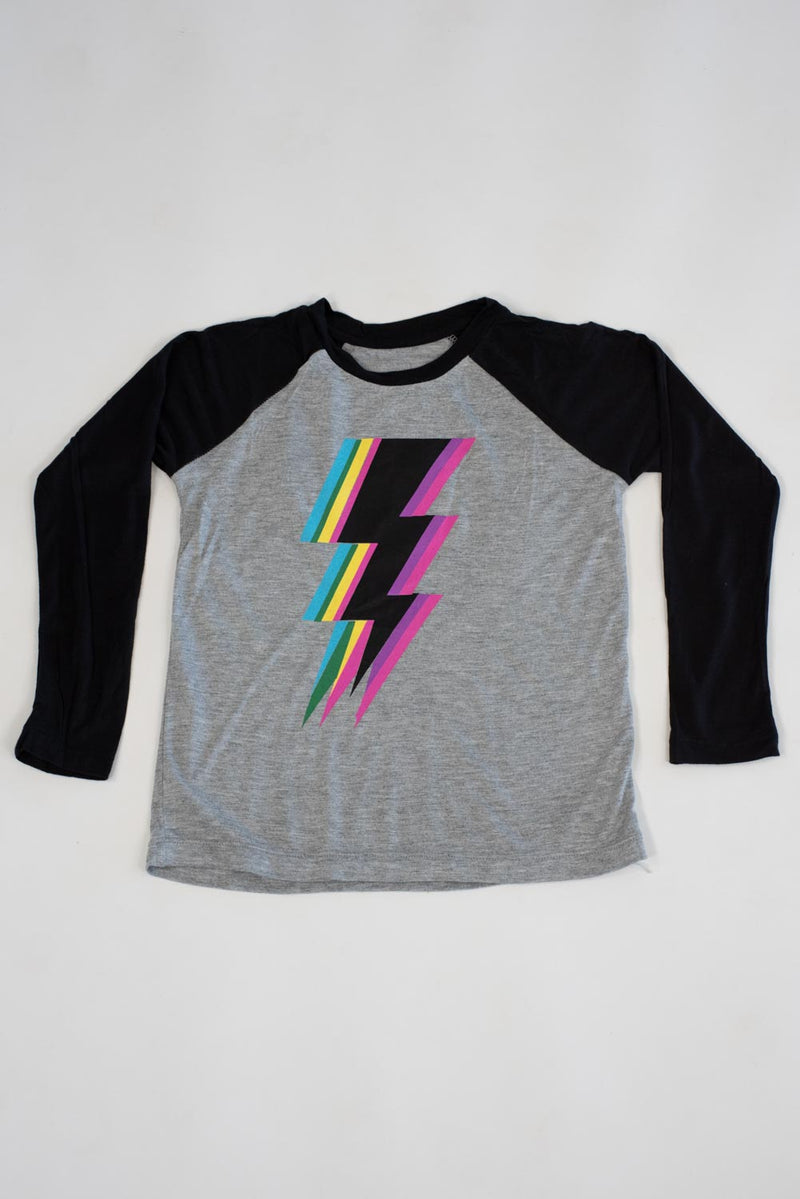 *Lightning Bolt Raglan Long Sleeve Tee*