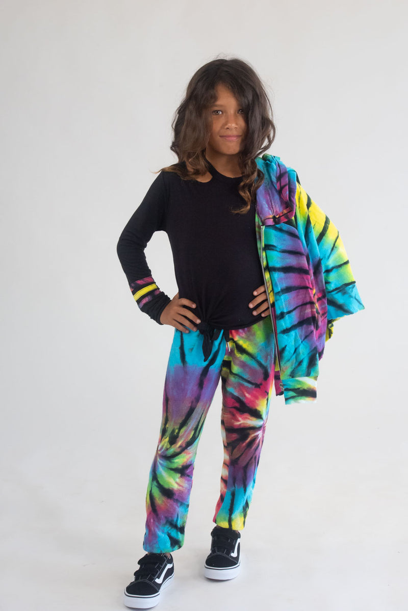 *Bright Spider Tiedye Striped Long Sleeve*