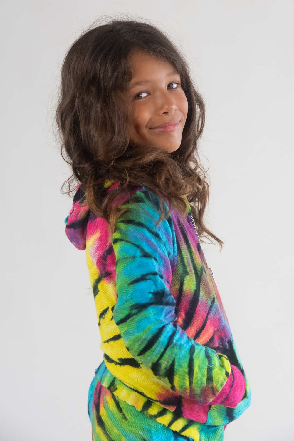 *Bright Spider Tiedye Zip-Up Hoodie*