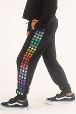 *Peace & Stars Rainbow Sweatpants*