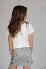 Heather Grey Multi Heart Taping Skirt