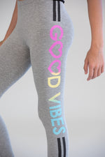 Good Vibes Heather Grey Leggings