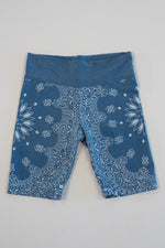 *Blue Vintage Washed Bandana Bike Shorts*