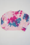 *Blush Tiedye  Cropped Sweatshirt*