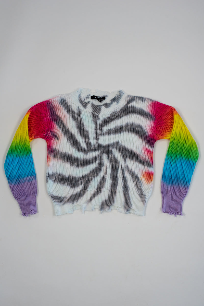 *Grey Swirl Tiedye Sweater*