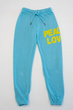 *Peace Love Turquoise Sweatpants*