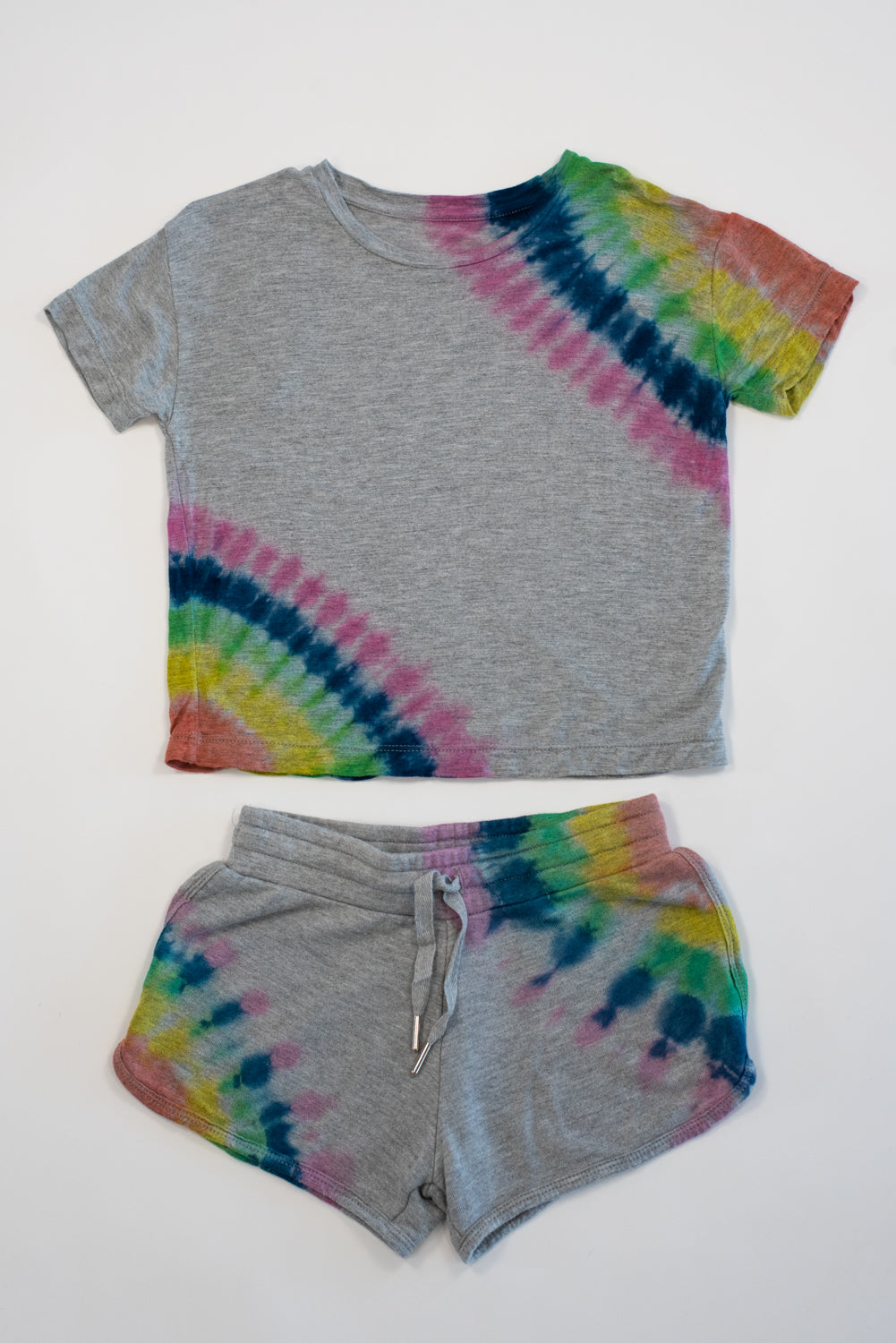 *Heather Grey Tiedye Cropped Tee*