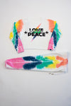*Tiedye Love Peace Cropped Sweatshirt*