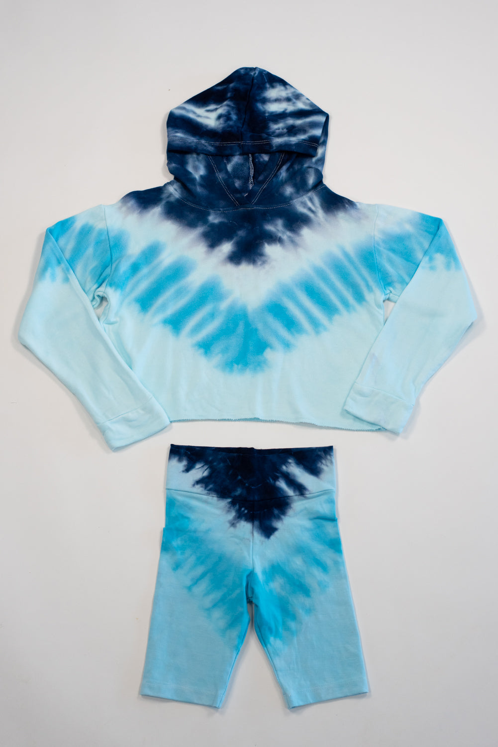 *Chevron Tiedye Bike Shorts*