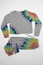 *Heather Grey Tiedye Sweatpants*