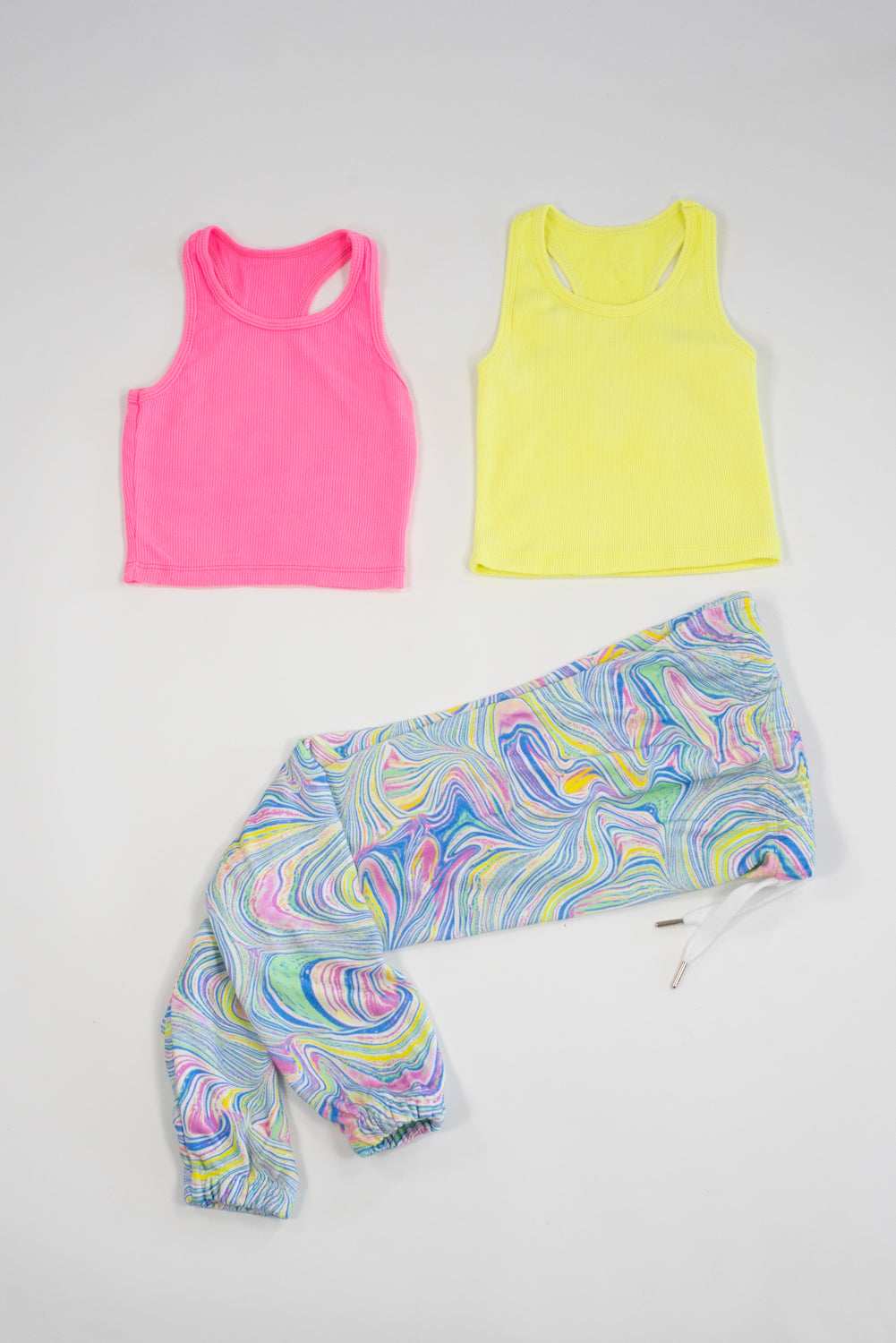 *Neon Yellow Cropped Tank*