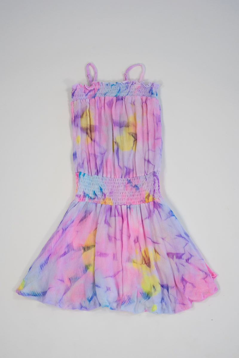 *Pastel Tiedye Smocking Dress*