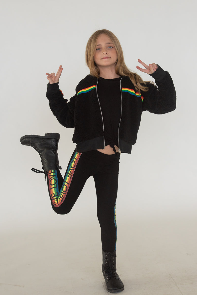Rainbow Taping Sherpa Jacket