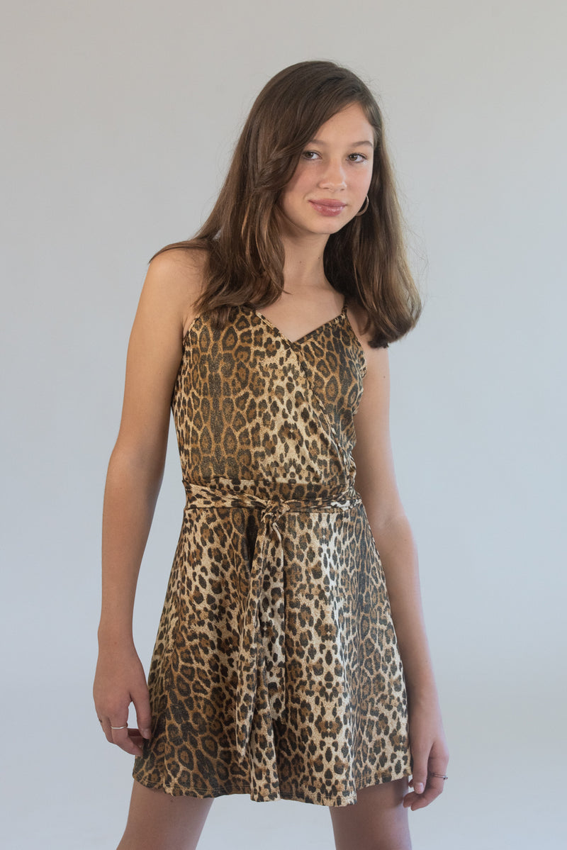 Fit and Flare Leopard Dress
