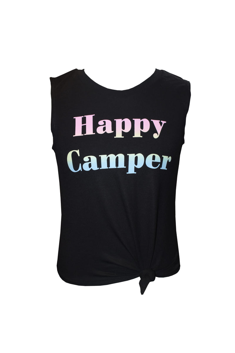 Happy Camper Front Knotted Tank