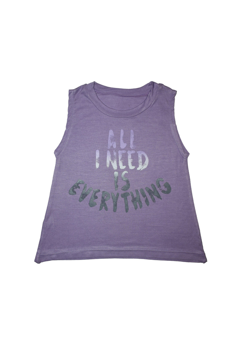 All I Need Is Everything Lavender Tank