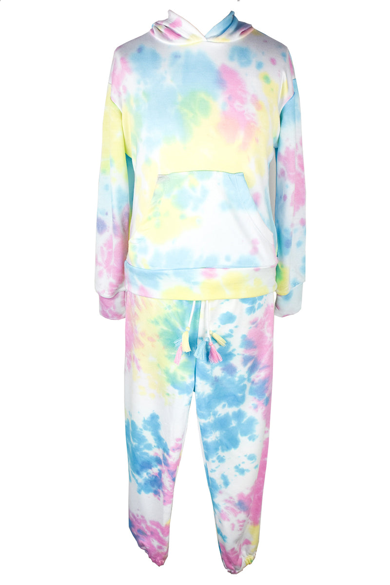 Pastel Hoodie & Sweatpants        (stay at home set-free mask)