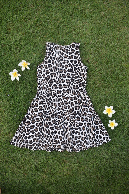 Leopard Fit and Flare Dress