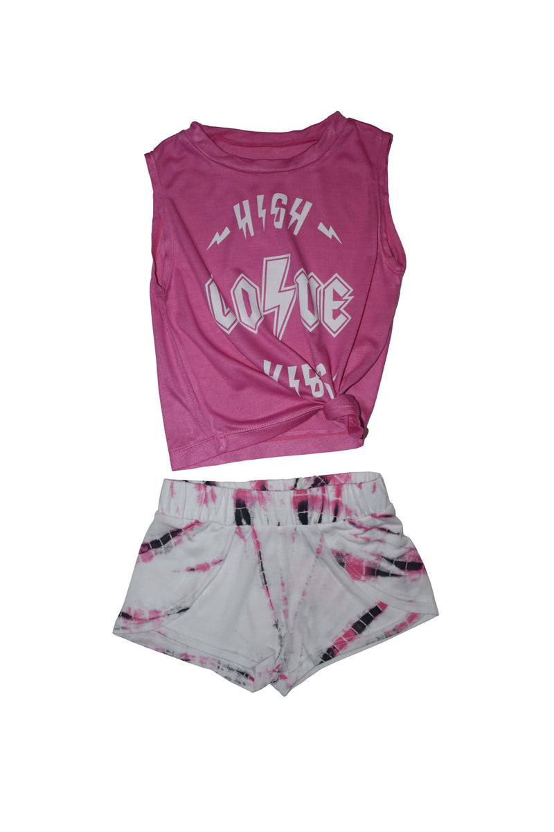 Pink High Love Vibes Baby Set