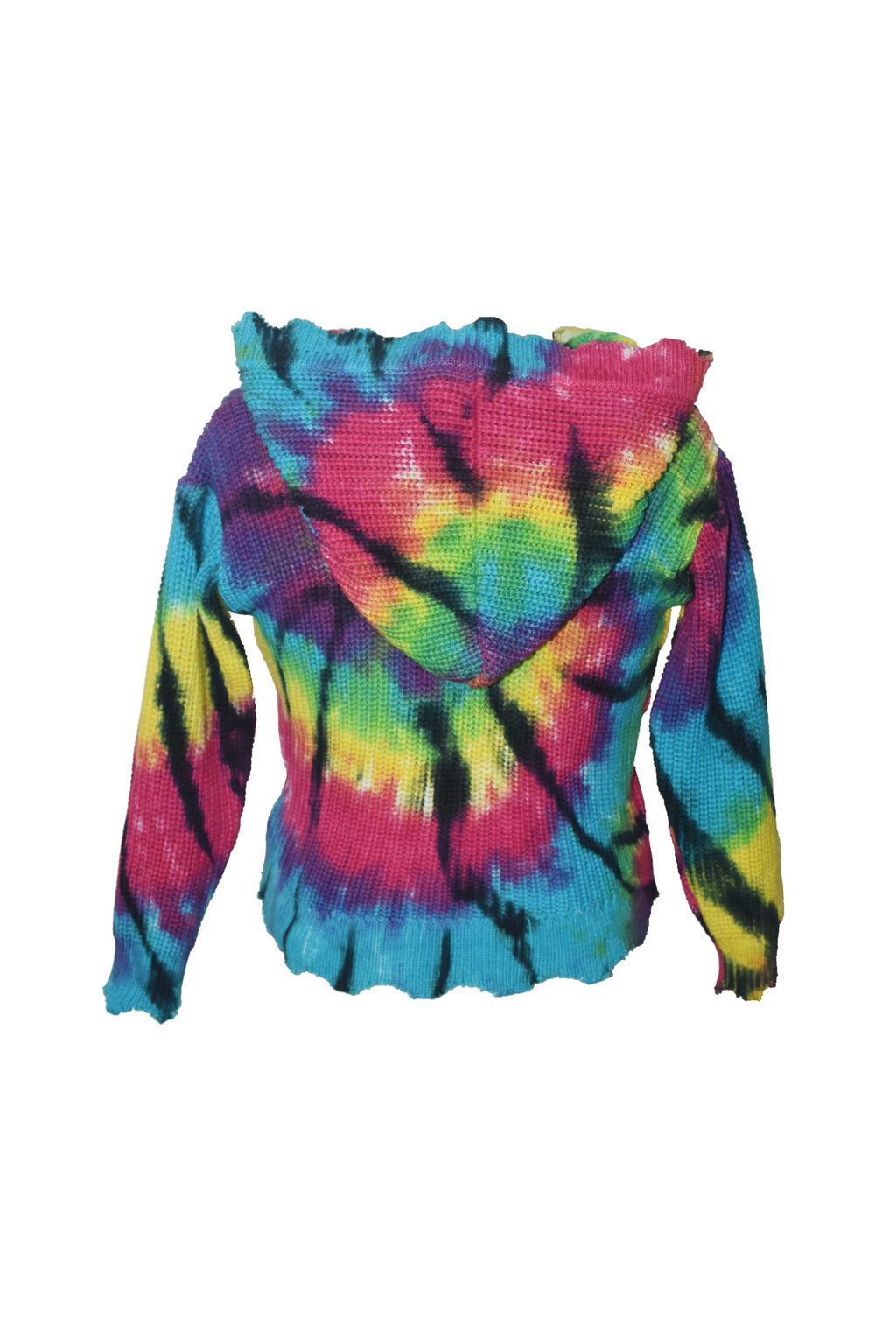 *Bright Spider Tiedye Zip Cardigan*