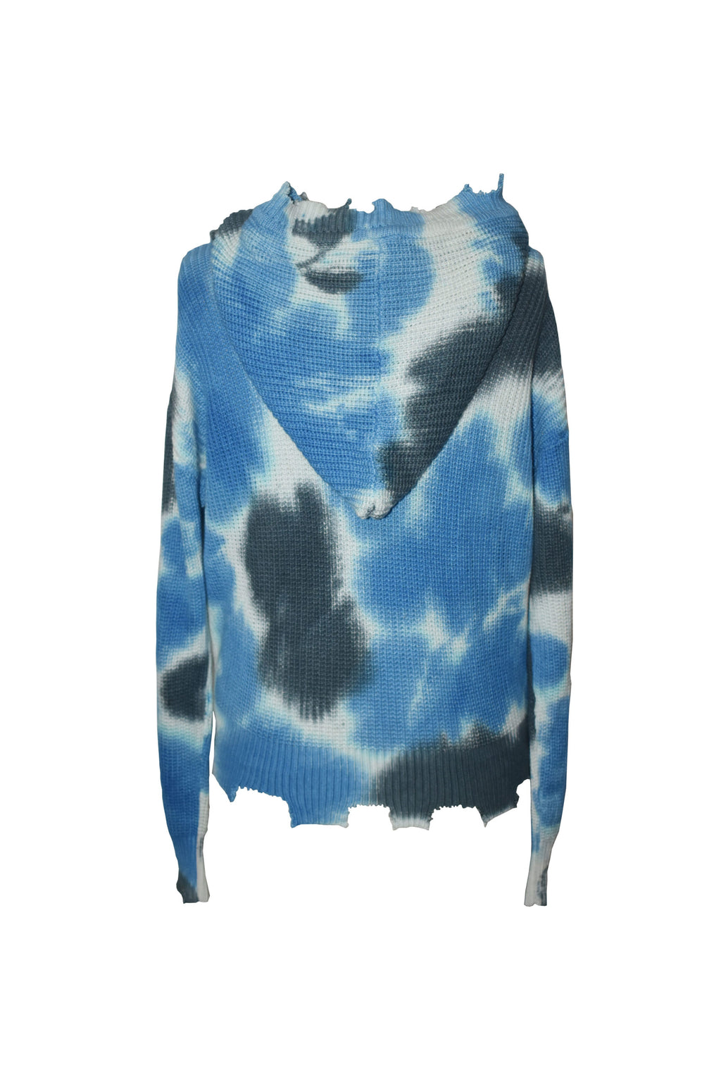 *Blue Tiedye Zip Cardigan*
