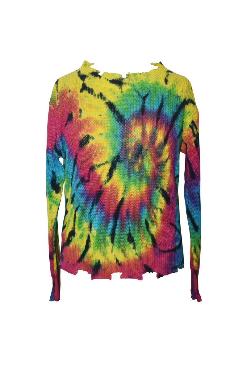 *Bright Spider Tiedye Sweater*