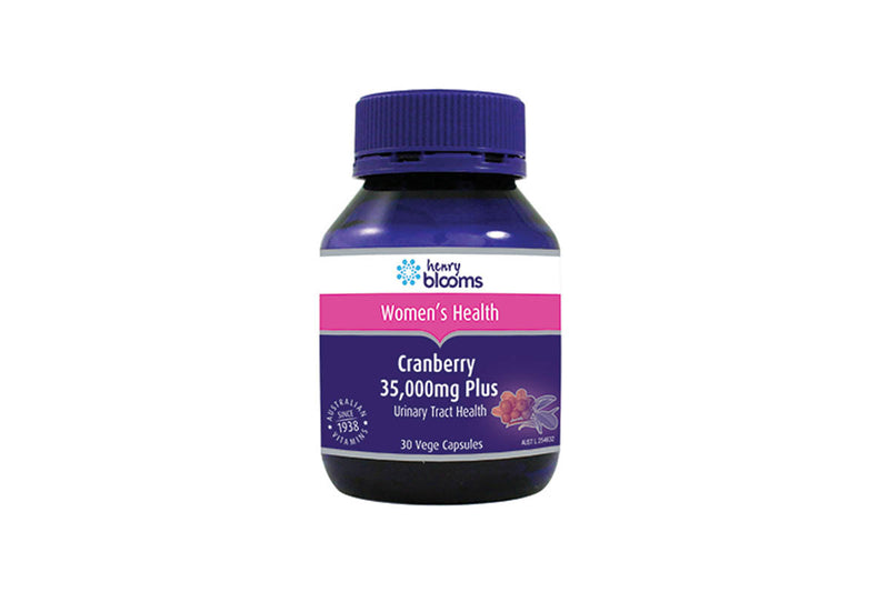 Henry Blooms Cranberry 35 000mg Plus 30 Capsules