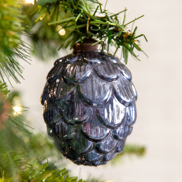 Artichoke Glass Ornament - Box of 4