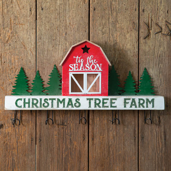 Christmas Tree Farm Wall Rack