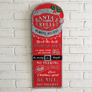 Santa Rules Wall Sign