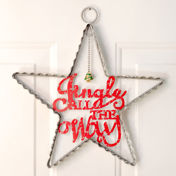 Jingle All The Way Star Wall Ornament