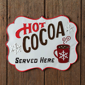 Hot Cocoa Wall Sign