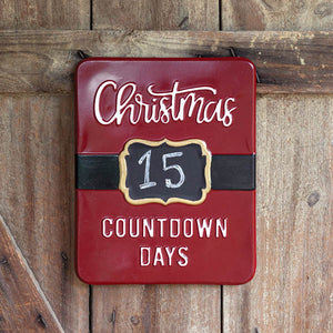 Christmas Countdown Sign with Chalkboard