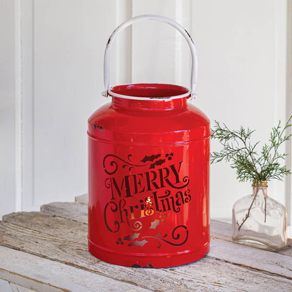 Merry Christmas Red Container