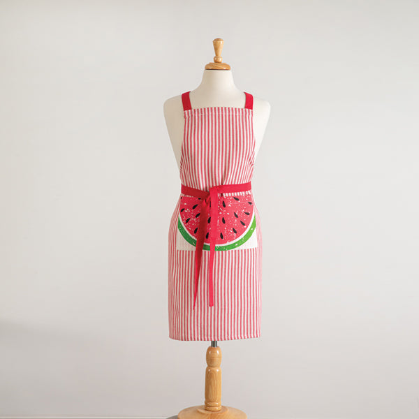 Watermelon Striped Apron