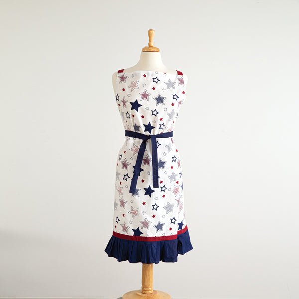 Stars Apron with Ruffles