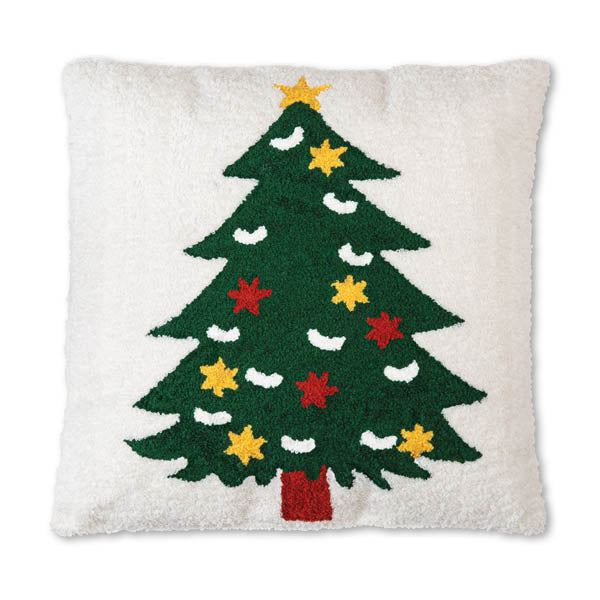 Christmas Tree Hooked Cotton Pillow