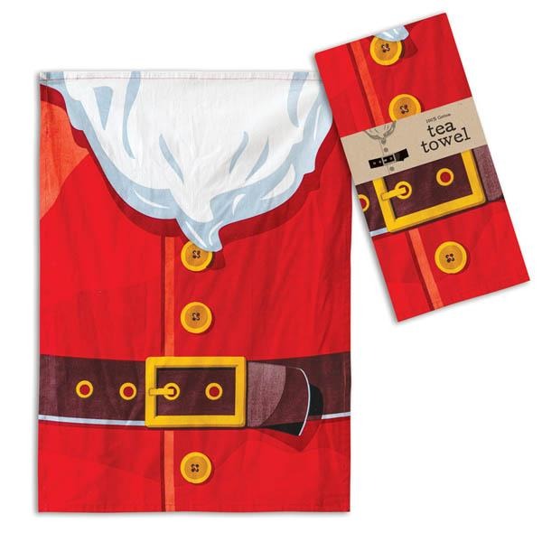 Santa Suit Tea Towel