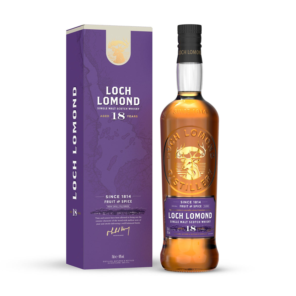 Loch Lomond 18 Year Old Single Malt Whisky with carton