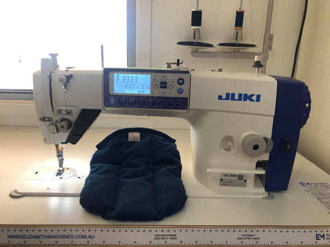 juke sewing machine with carpendale creative wheat pack sitting against it
