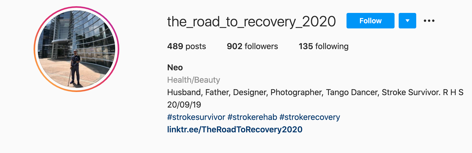 On the Road to Recovery Instagram
