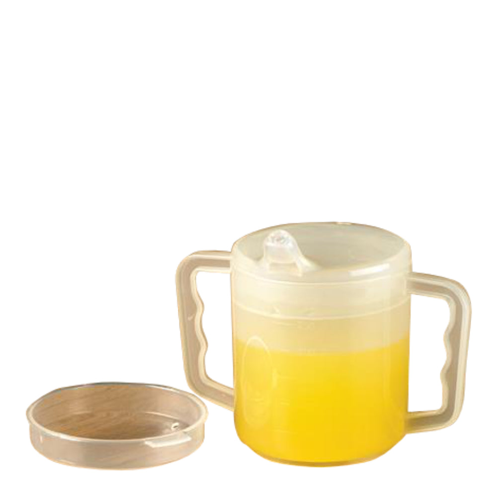 Two Handled Mug With Two Lids (2 Pack)